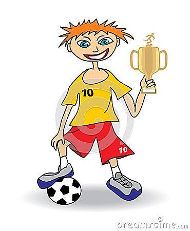 Młody gracz piłki nożnej