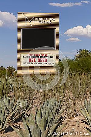 M-Erholungsort unterzeichnen herein Las Vegas, Nanovolt am 20. August 2013 Redaktionelles Foto
