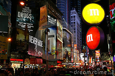M&M Store Times Square New York City Editorial Photo