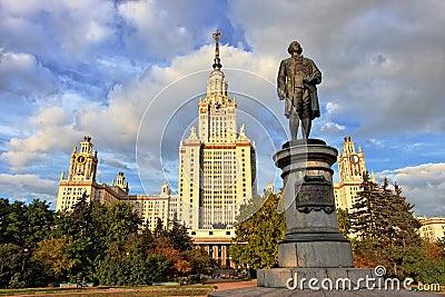 M.V.Lomonosov monument in front of Moscow Univ.