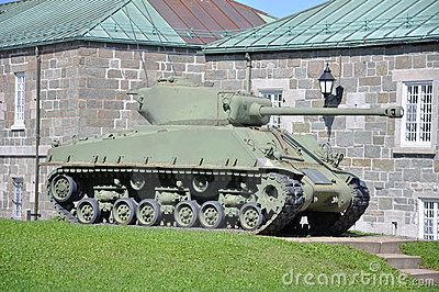 M4 Sherman Tank in Citadelle de Quebec