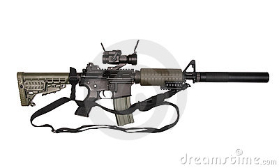 M4A1 with sling.