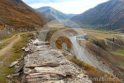 M52 road from Siberia to Mongolia