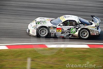M7 mazda car 7, SuperGT 2010 Editorial Stock Image