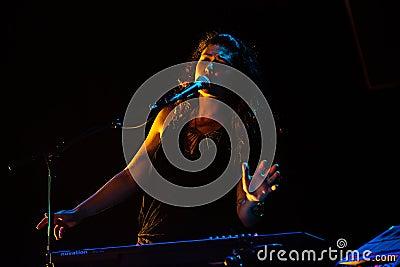 M83 concert at Bumbershoot Editorial Stock Image