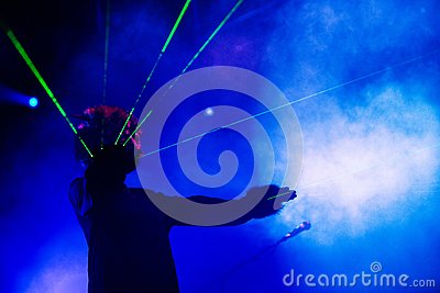 M83 concert at Bumbershoot Editorial Stock Photo