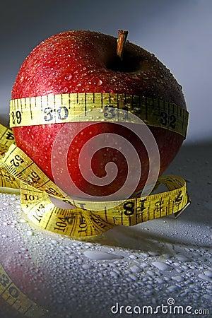 Maçã da dieta saudável