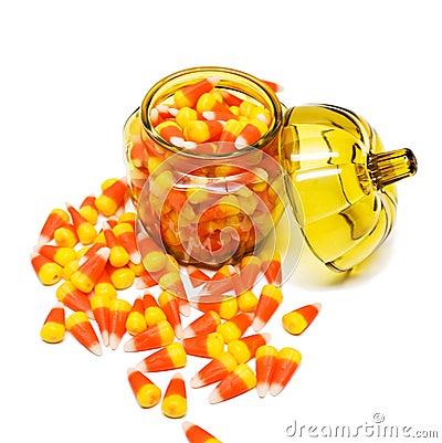 Maíz de caramelo en tarro
