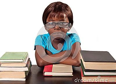Mała afrykanin szkoły dziewczyna