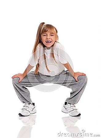 Mała dziewczynka taniec