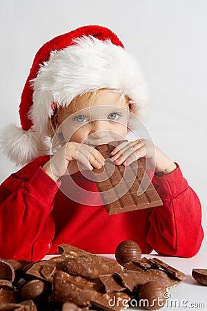 Małe czekoladowe Mikołaja