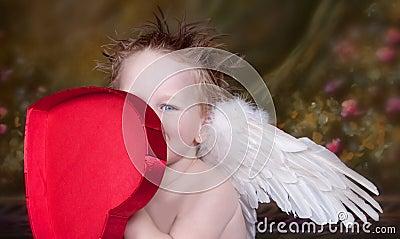 Mała anioł chłopiec