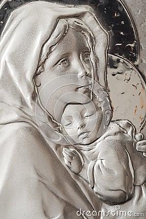 Maagdelijke Mary en Baby Jesus