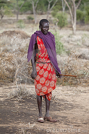 Maasai shephard Editorial Stock Photo