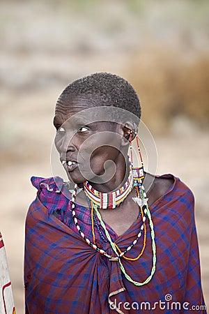 Maasai woman Editorial Photo