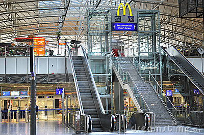 Mac Donald logo in Frankfurt airport terminal 2 Editorial Photo