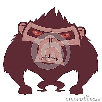 Macaco irritado