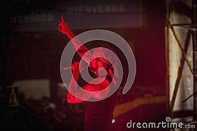 Macaco performs at the Hard Rock Rocks La Merce Editorial Photography