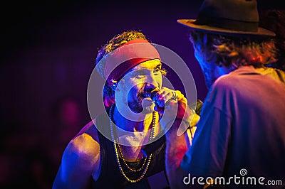 Macaco performs at the Hard Rock Rocks La Merce Editorial Image
