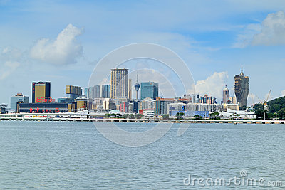 Macao city skyline Editorial Photo