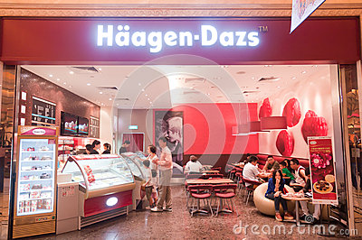 Macao haagen dazs shop Editorial Stock Image