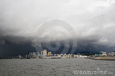 macao from the sea Editorial Stock Photo