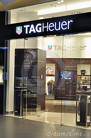 Macao tagheuer shop Editorial Stock Image