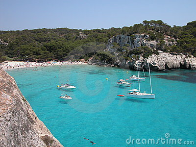 Macarella Beach in Menorca (Spain)