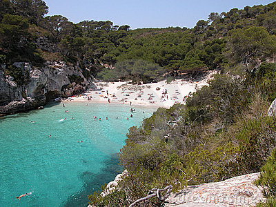 Macarelleta Beach in Menorca