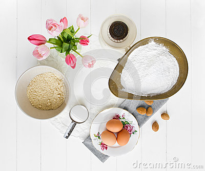 Macaron Ingredients From Above Royalty Free Stock Photos - Image ...