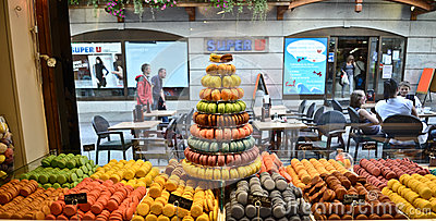 Macaron store in Chamonix,France Editorial Photo
