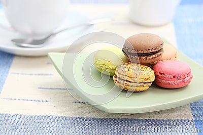 Macaron with tea cup