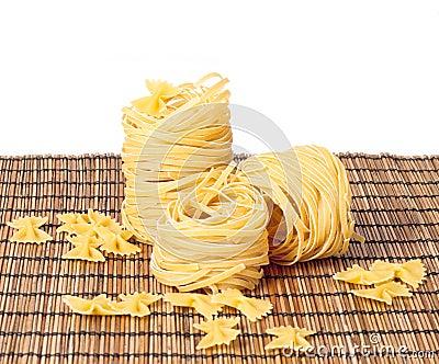Macaroni on the mat