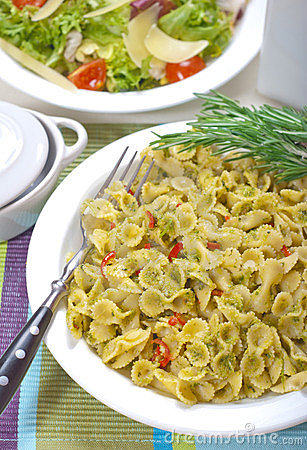 Macaroni with Pesto Sauce and Rosemary #1