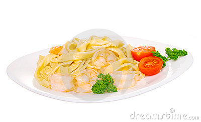 Macaroni withe shrimp