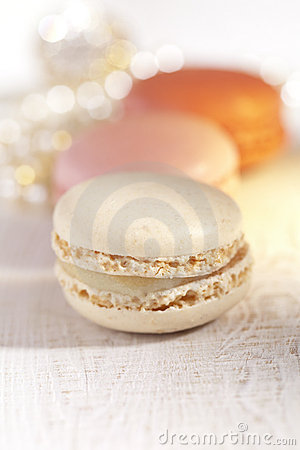 Macarons, colorful, shiny glitter backdrop