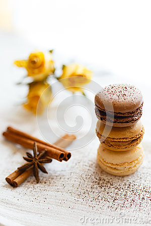 Free Macarons With Gingerbread Spices Royalty Free Stock Photo - 54560505