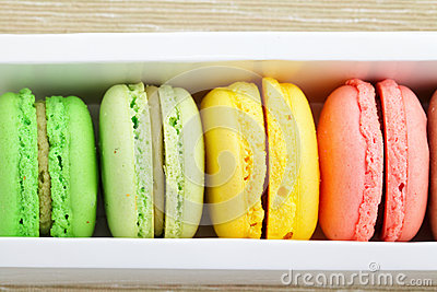 Macaroons in box