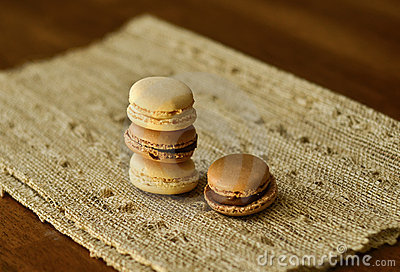 Macaroons on a napkin