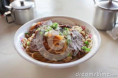 Macarronete taiwanês da carne