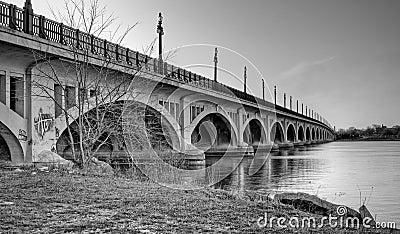 MacArthur Bridge (Belle Isle) over Detroit River