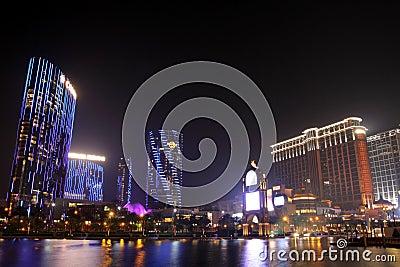 Macau : City of Dreams & Sands Contai Central Editorial Image