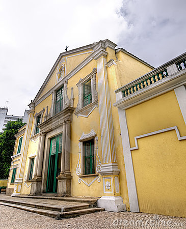 Macau landmark - St. Augustine s Church