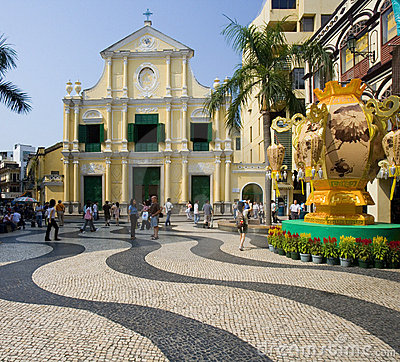 Macau - Largo de Senado Editorial Stock Image