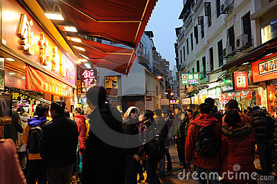 Macau at night Editorial Stock Image