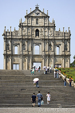 Macau - Ruins of Sao Paulo Cathedral Editorial Image