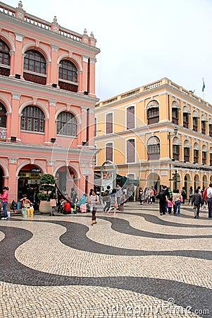 Macau Streets Editorial Stock Image