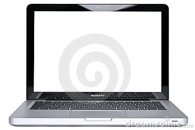 MacBook Pro isolated with clipping path Editorial Image