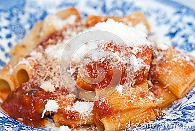 Maccheroni with tomato sauce