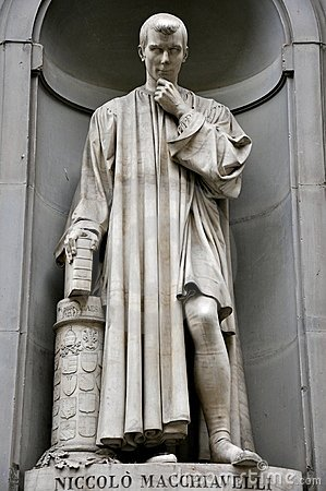 Macchiavelli statue in Florence city, Italy